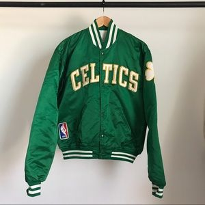 VINTAGE BOSTON CELTICS STARTER JACKET MADE IN USA